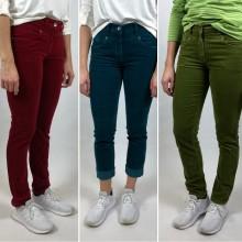 Velveton Five Pocket Hose, Bio Baumwolle, verschiedene Farben