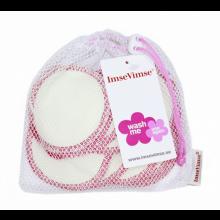 Waschbare Abschminkpads – Pink umrandet – 10er Netzbeutel
