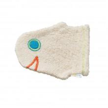 Waschhandschuh Fischkopf aus Bio-Baumwolle