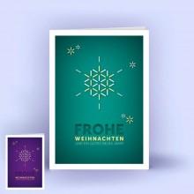 Weihnachtskarten Schneeflocke A6 hoch, 5er Set