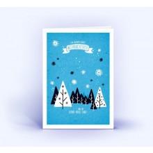 Winterlandschaft – Eco Weihnachtskarten, DIN A6 hoch im 5er Set