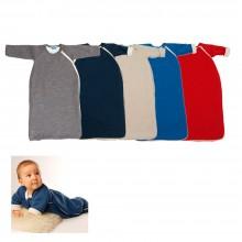 Winter Schlafsack mit Arm aus Bio-Wolle & Bio-Baumwollplüsch