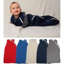 Schlafsack ohne Arm mit Futter – Bio-Wolle & Baumwollplüsch