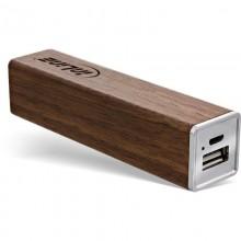 woodpower Edge, USB Akku PowerBank 3.000mAh, mit LED Anzeige, Walnuss-Gehäuse