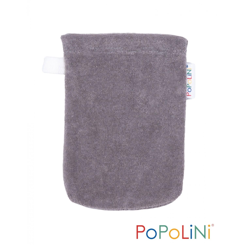 Babywaschhandschuh grau