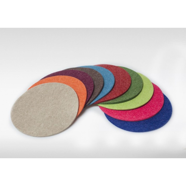 Filz-Untersetzer vegan Ø 15cm / Ø 10cm – viele Farben