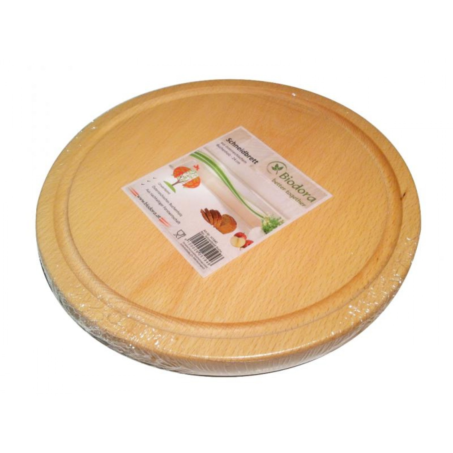 Cutting board round made of untreated beech wood | Biodora