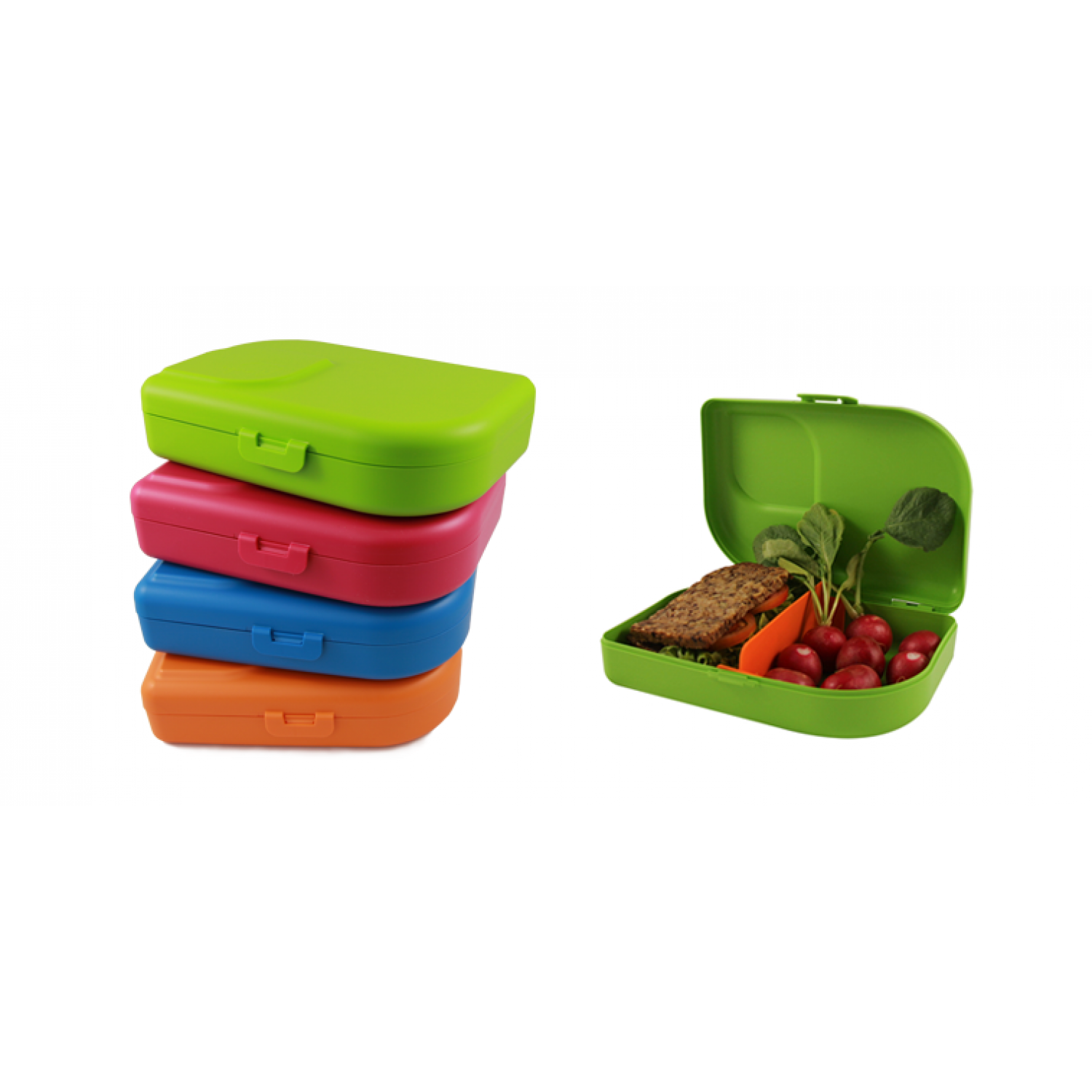 Nana Lunchbox mandarin - lime - blue - pink