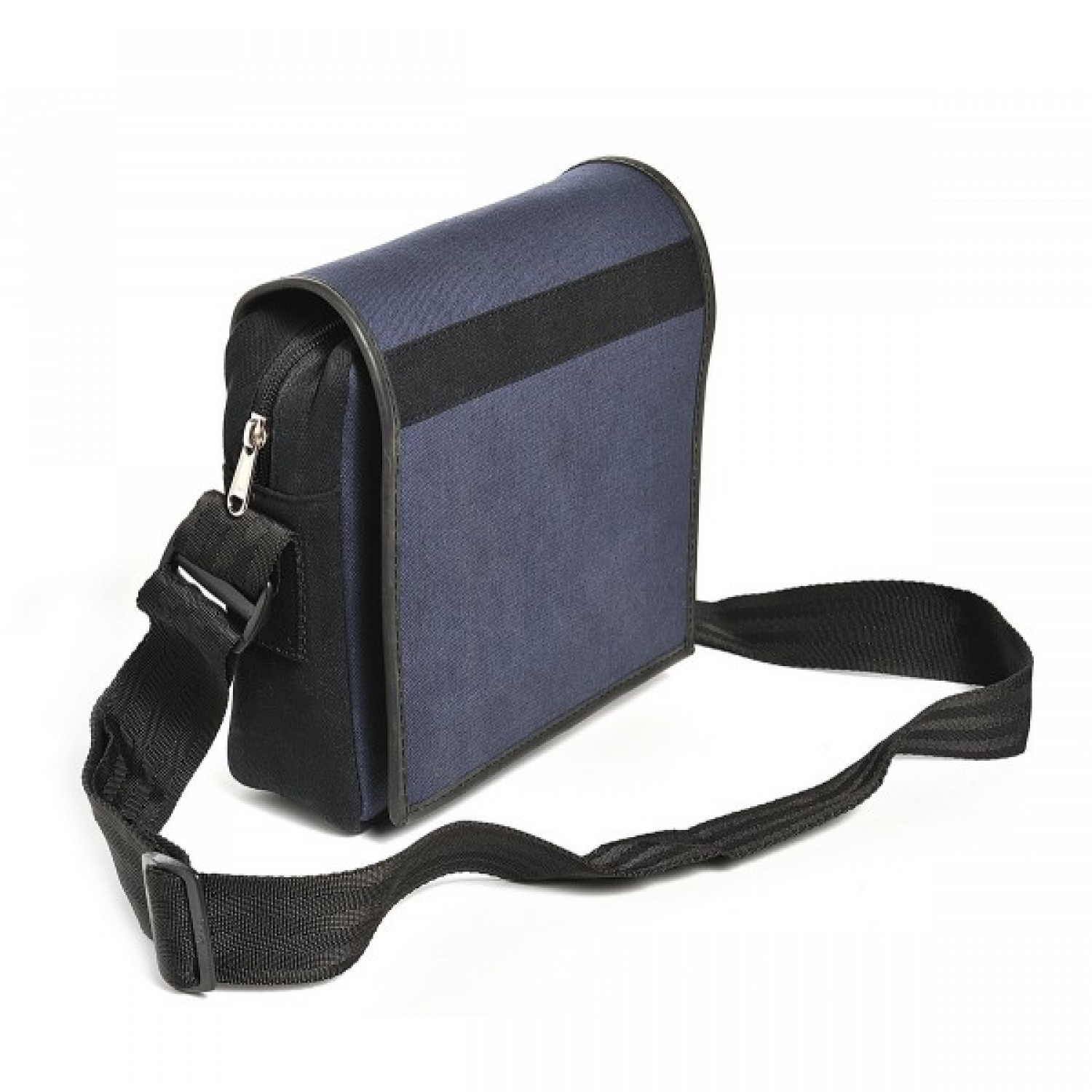 Mousse: Blue Upcycled Shoulder Bag of recycled canvas