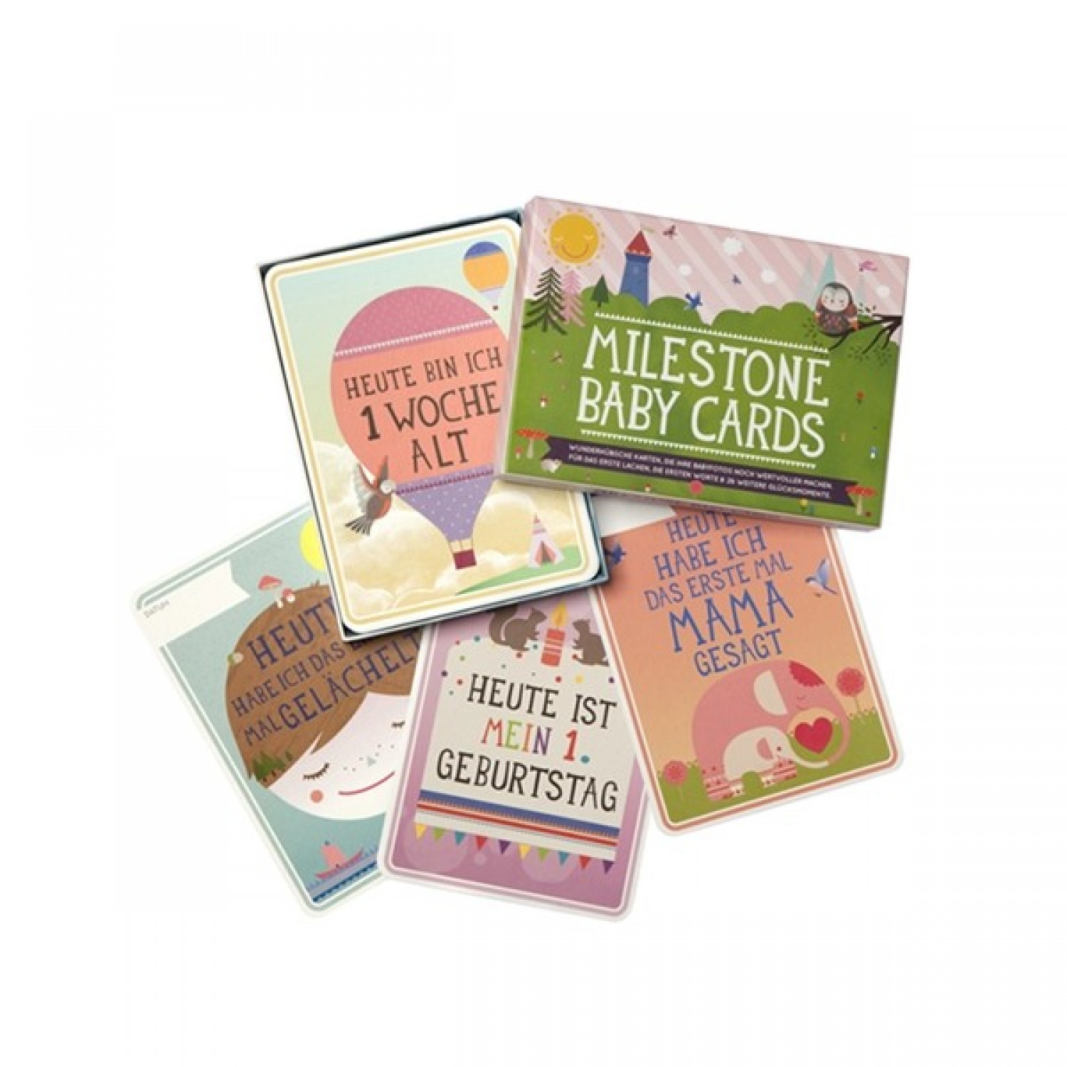 Milestone Baby Cards Set – German