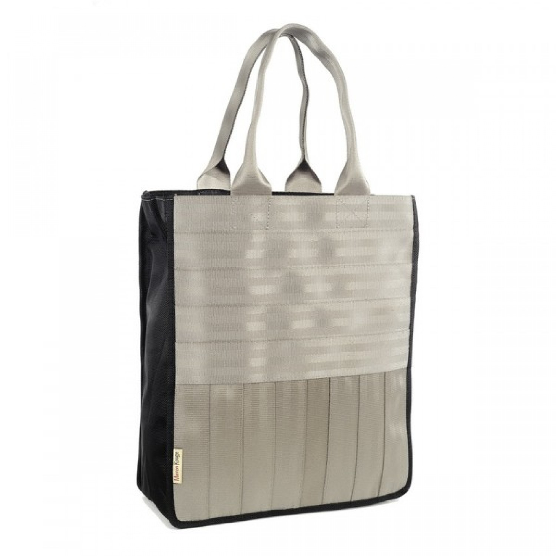 Véronique | light grey shopping bag | tote bag
