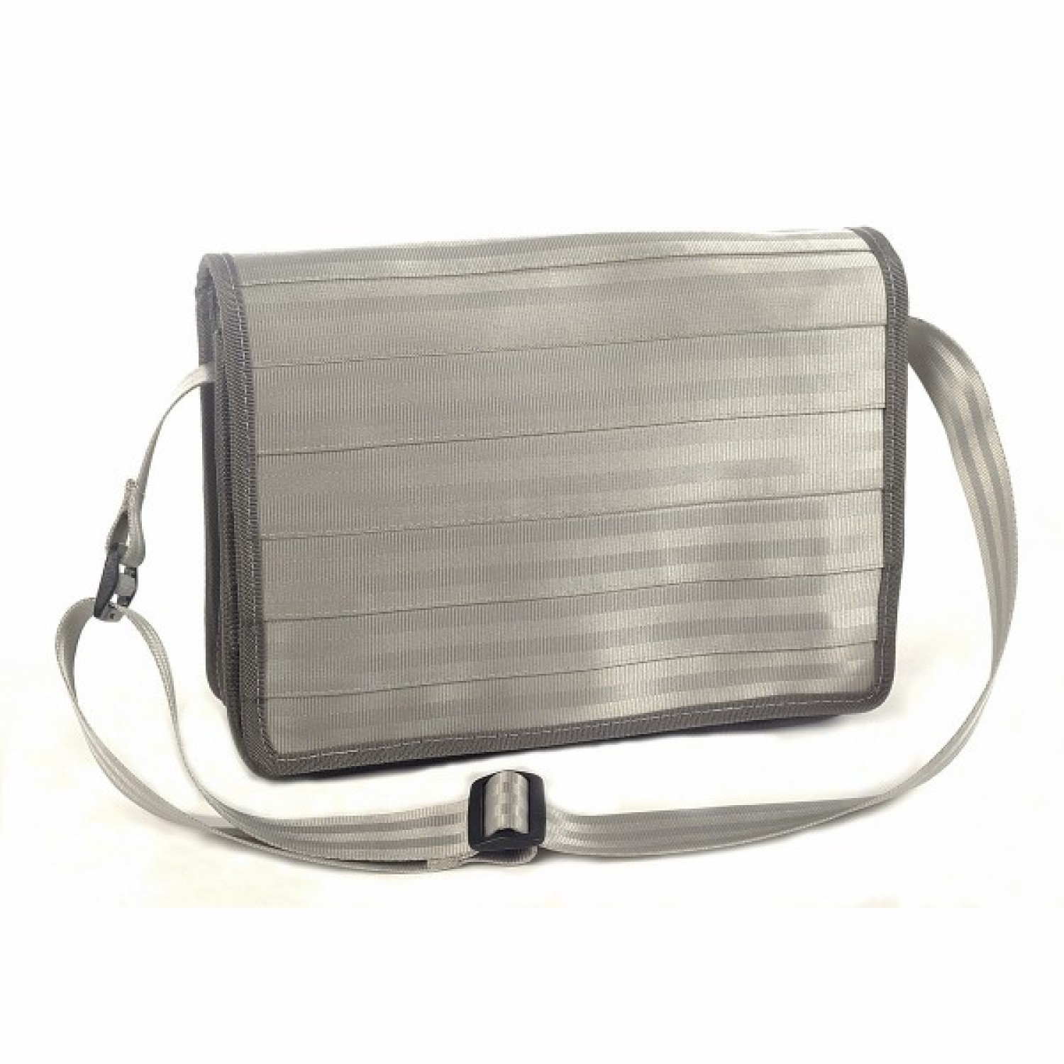 Upcycled Messenger Bag Light Grey | Marron Rouge