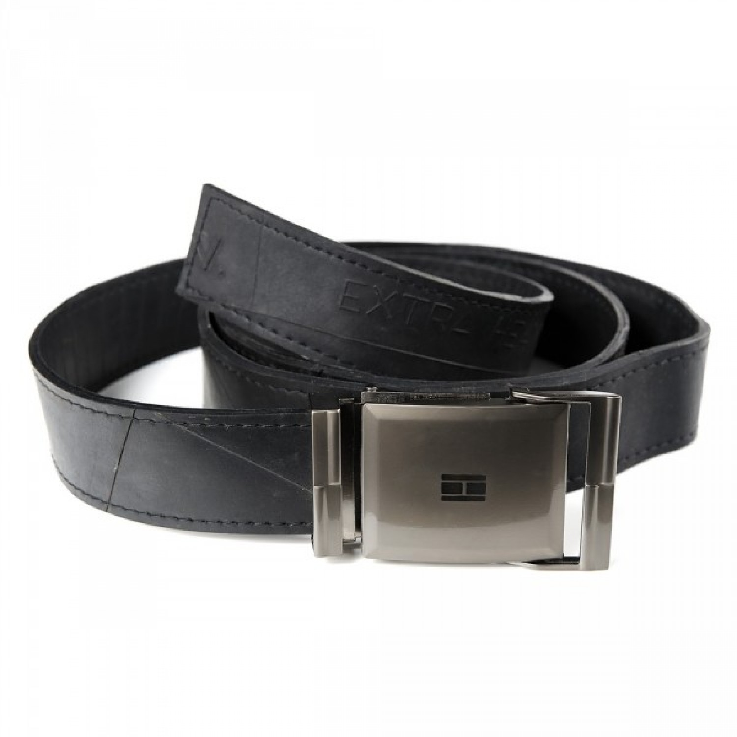 Belt in recycled inner tube | Marron Rouge