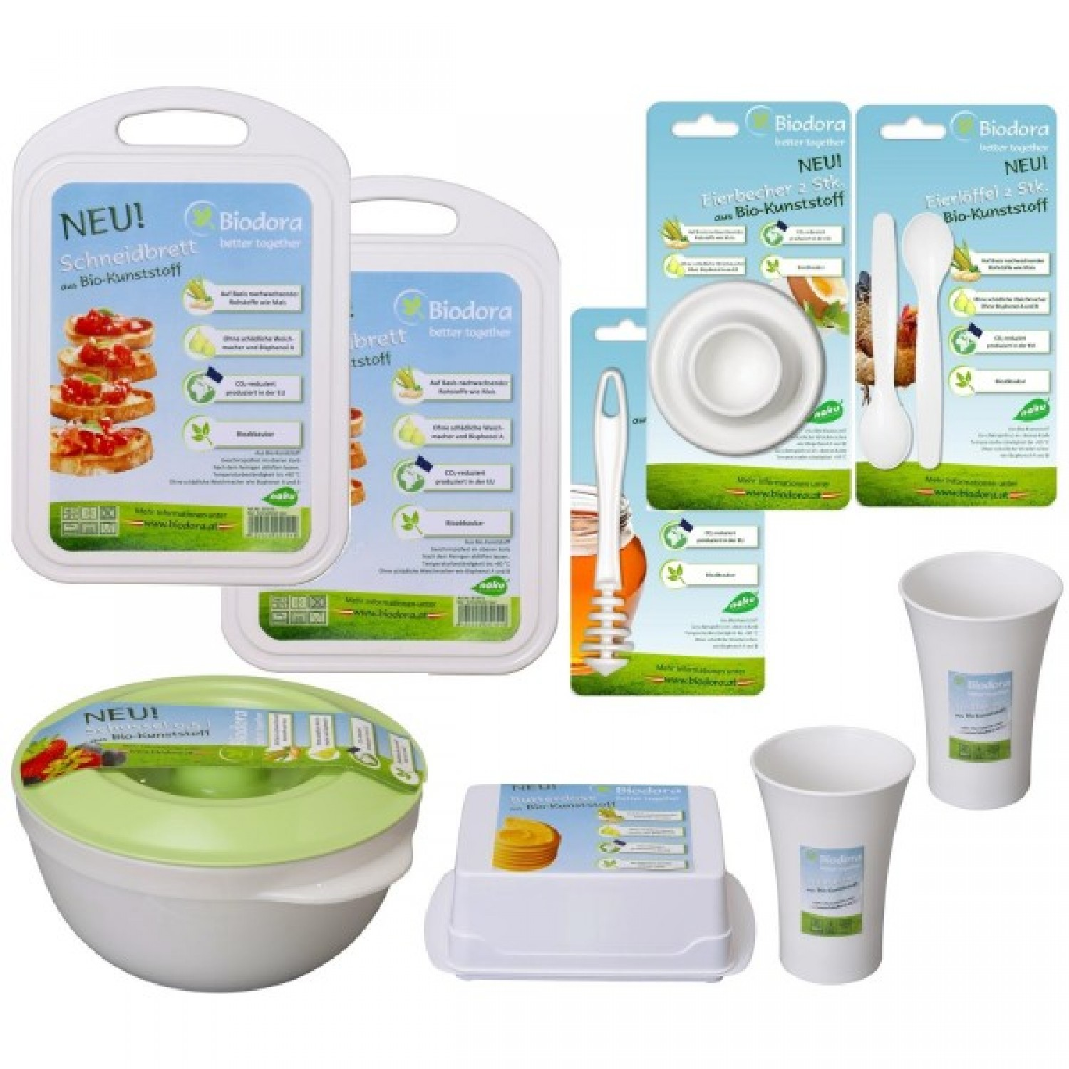 Breakfast Set made of bioplastics from Biodora