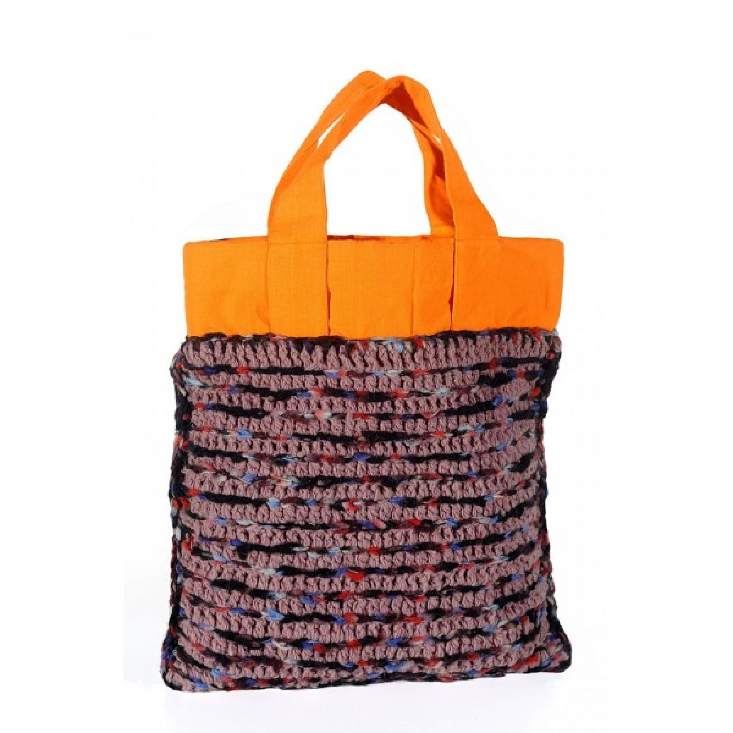 Anjali - Upcycling Shopping Bag - wool and cotton