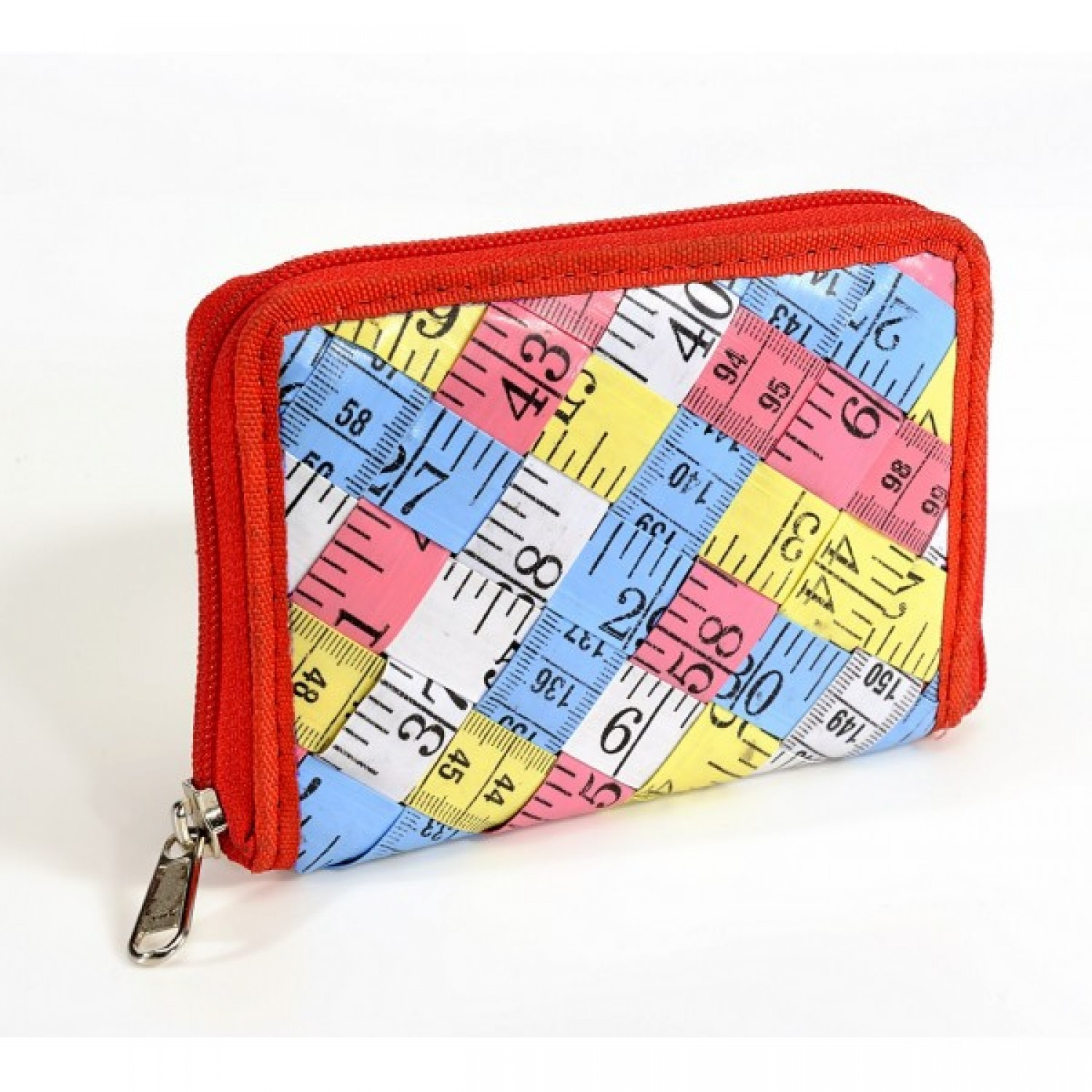 Inès zippered wallet in measuring tape diverted
