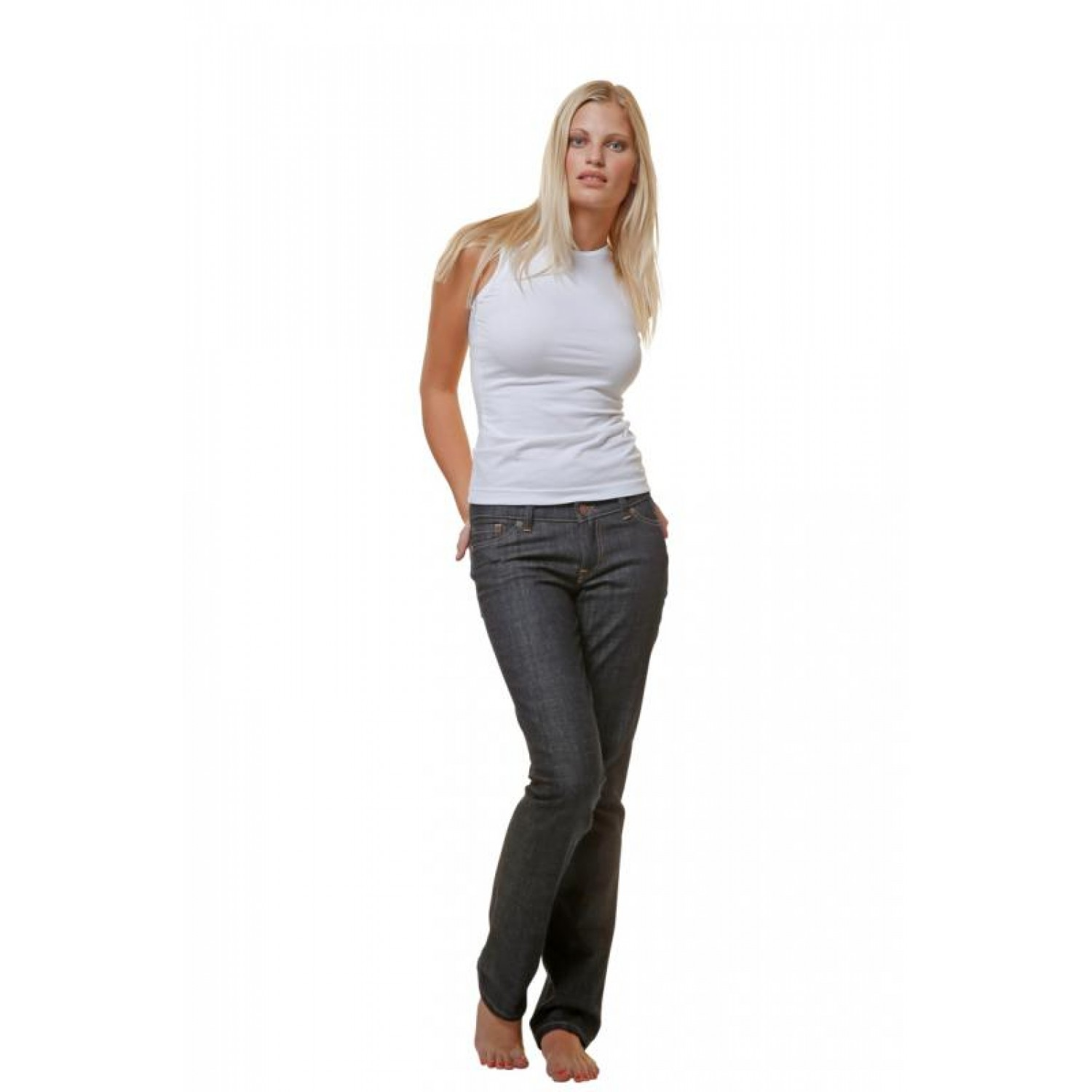 Eco Jeans for Women Organic Cotton with gold or white seam