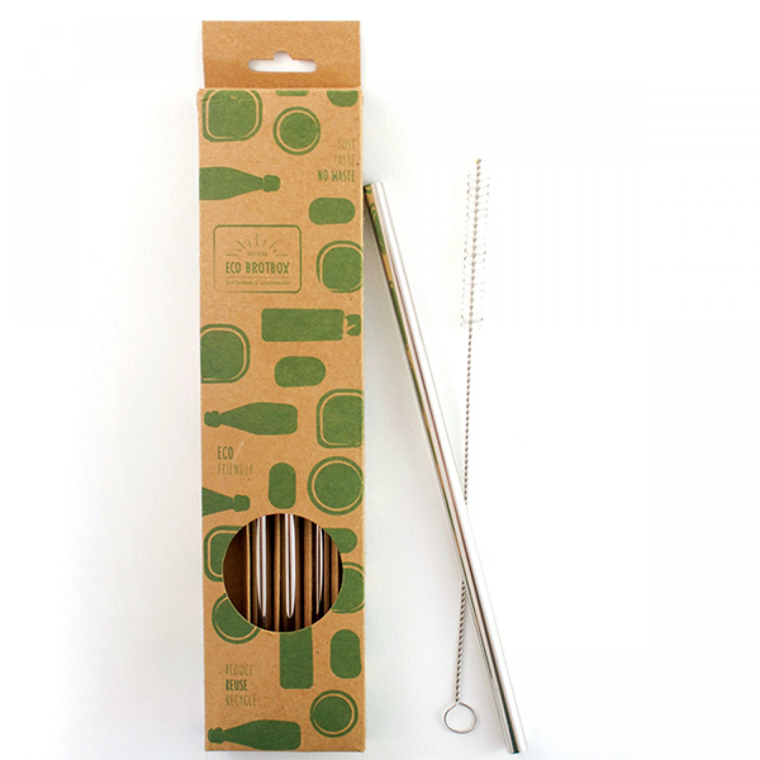 ECO Drinking Straws Pack of 4 Stainless Steel