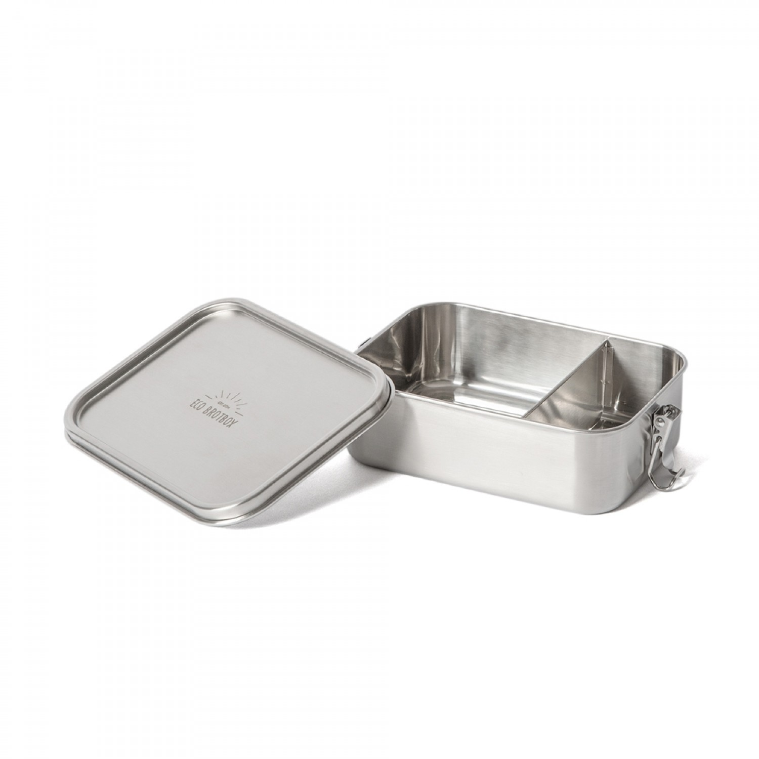 Bento Classic+ stainless steel lunchbox, leakproof with fixed divider