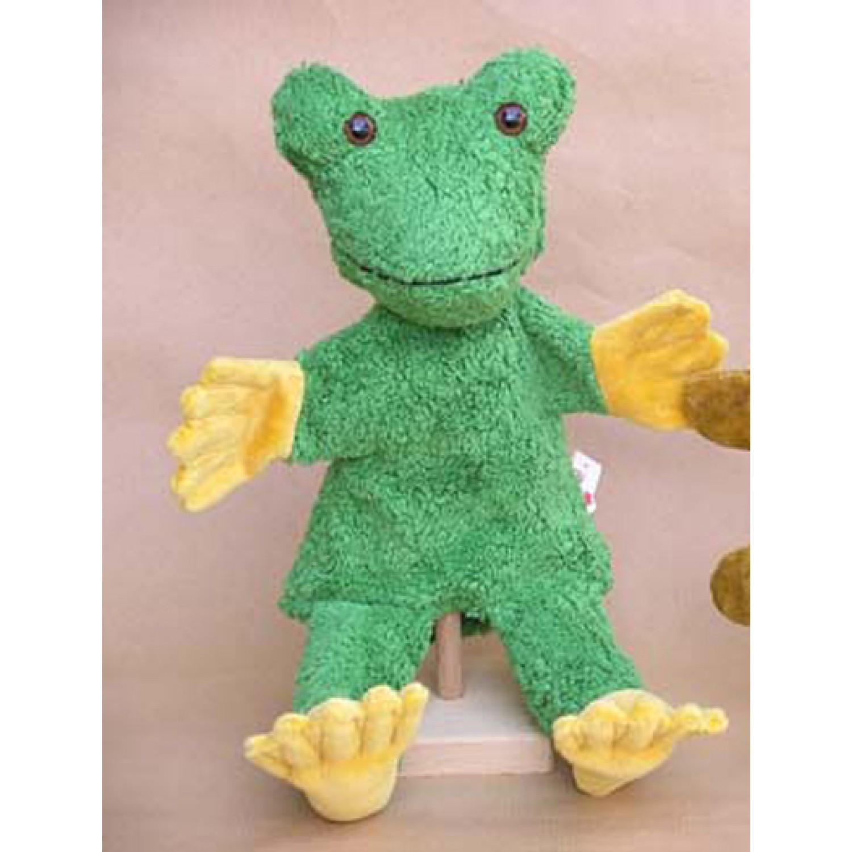 Handpuppe Frosch vegan