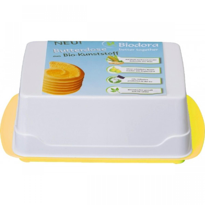 Butter Dish made of bioplastics – yellow bottom