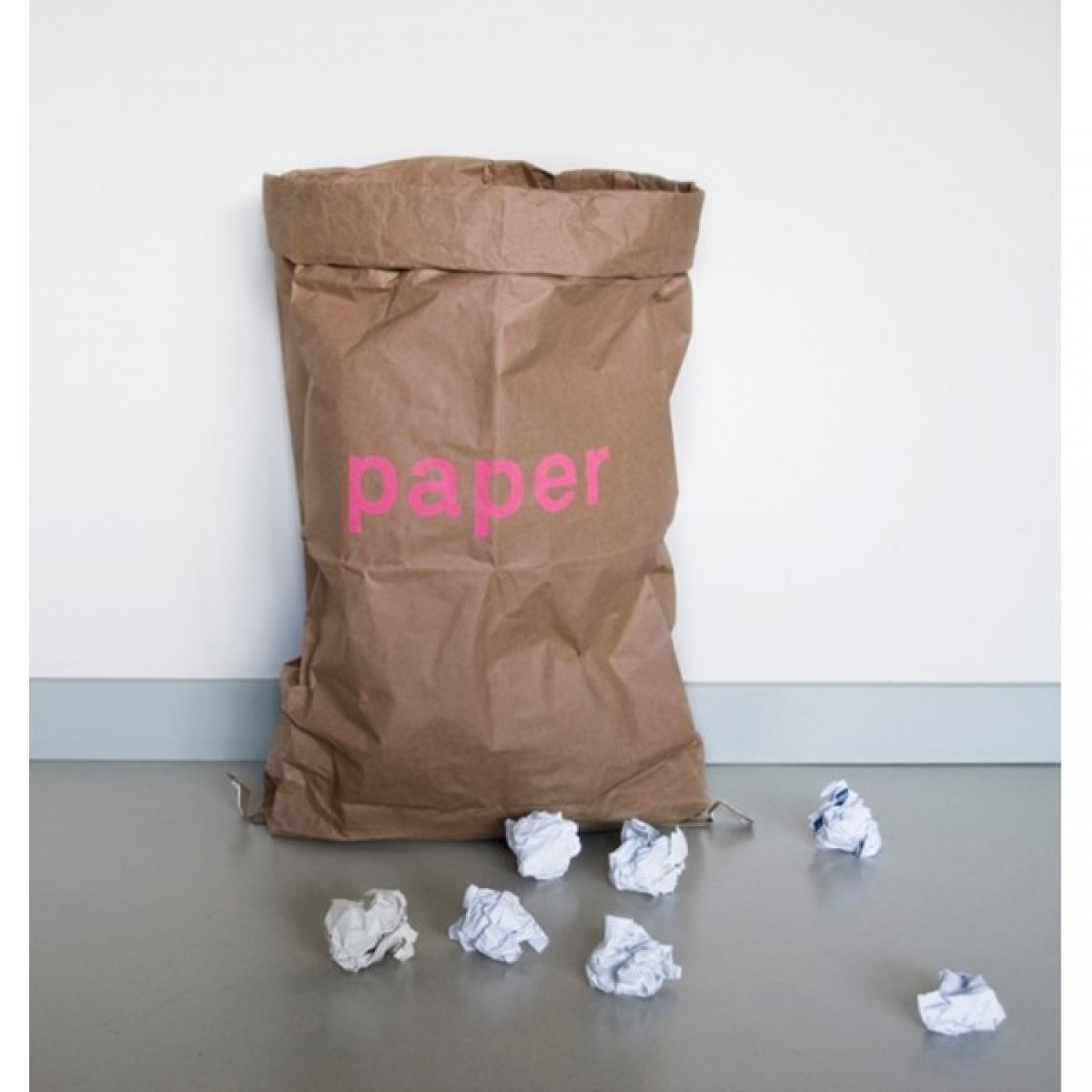 Paper bag made from recycled paper for waste paper