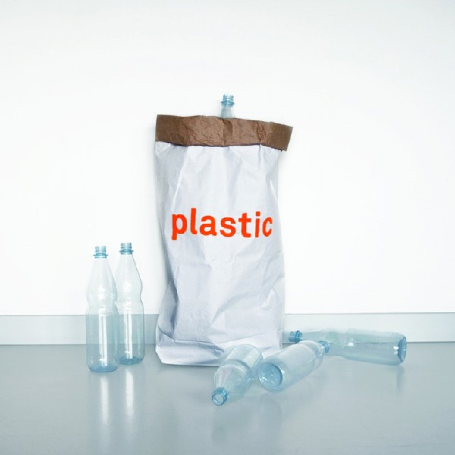Storage paper bag of recycled paper for plastic | kolor