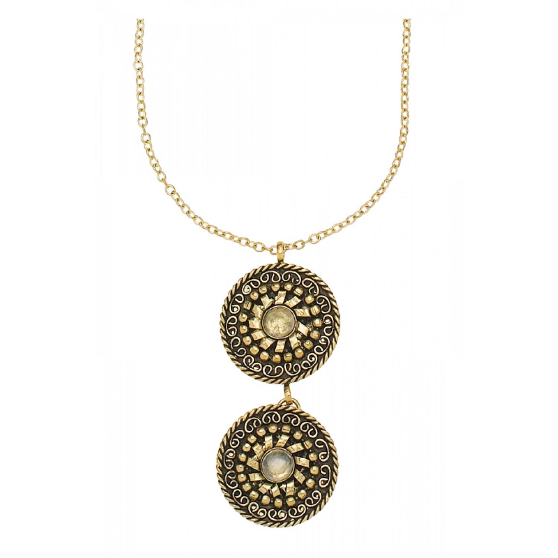 Taja Disk Necklace Brass | People Tree