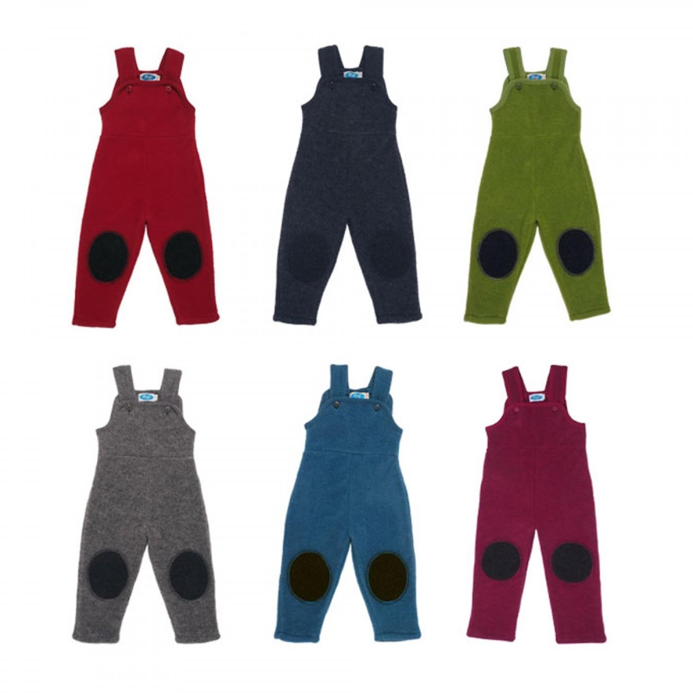 Bib Overall - Dungarees of Organic Wool Fleece | Reiff