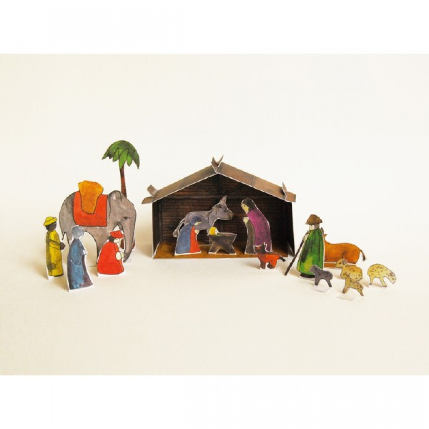 Nativity scene – construction paper