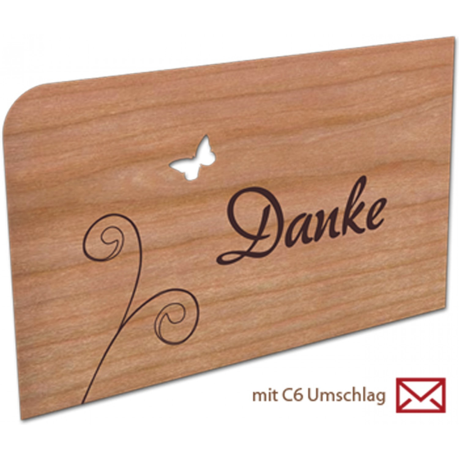 Greeting card | postcard made of wood – Thanks