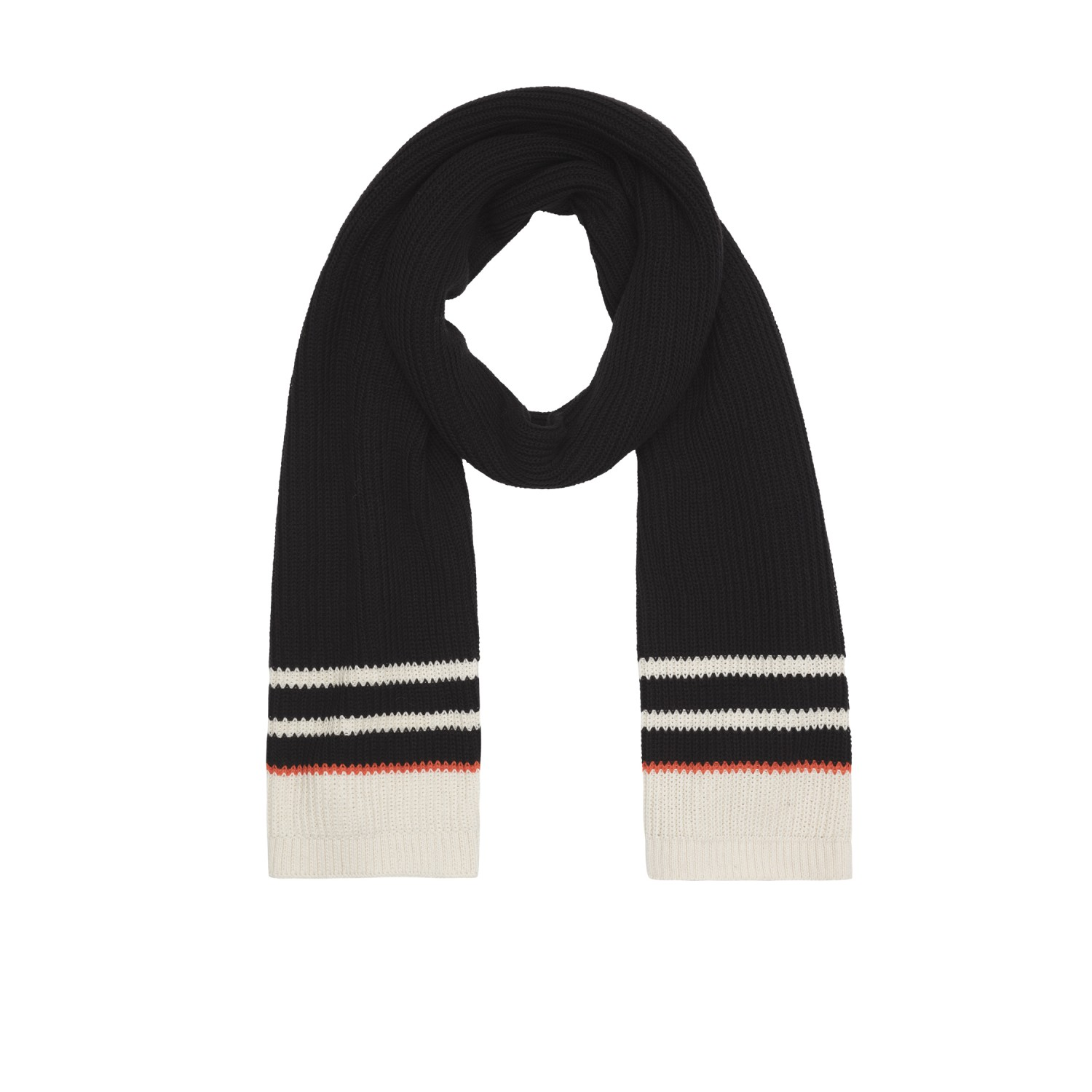 Knit Scarf black - Organic Cotton | People Tree