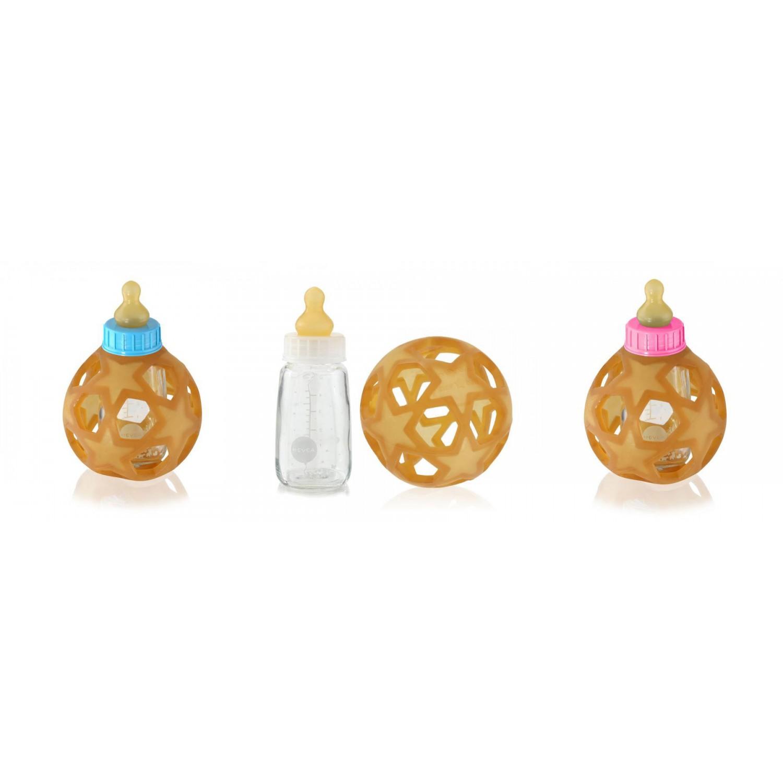 Hevea Baby Glasflasche mit Star Ball