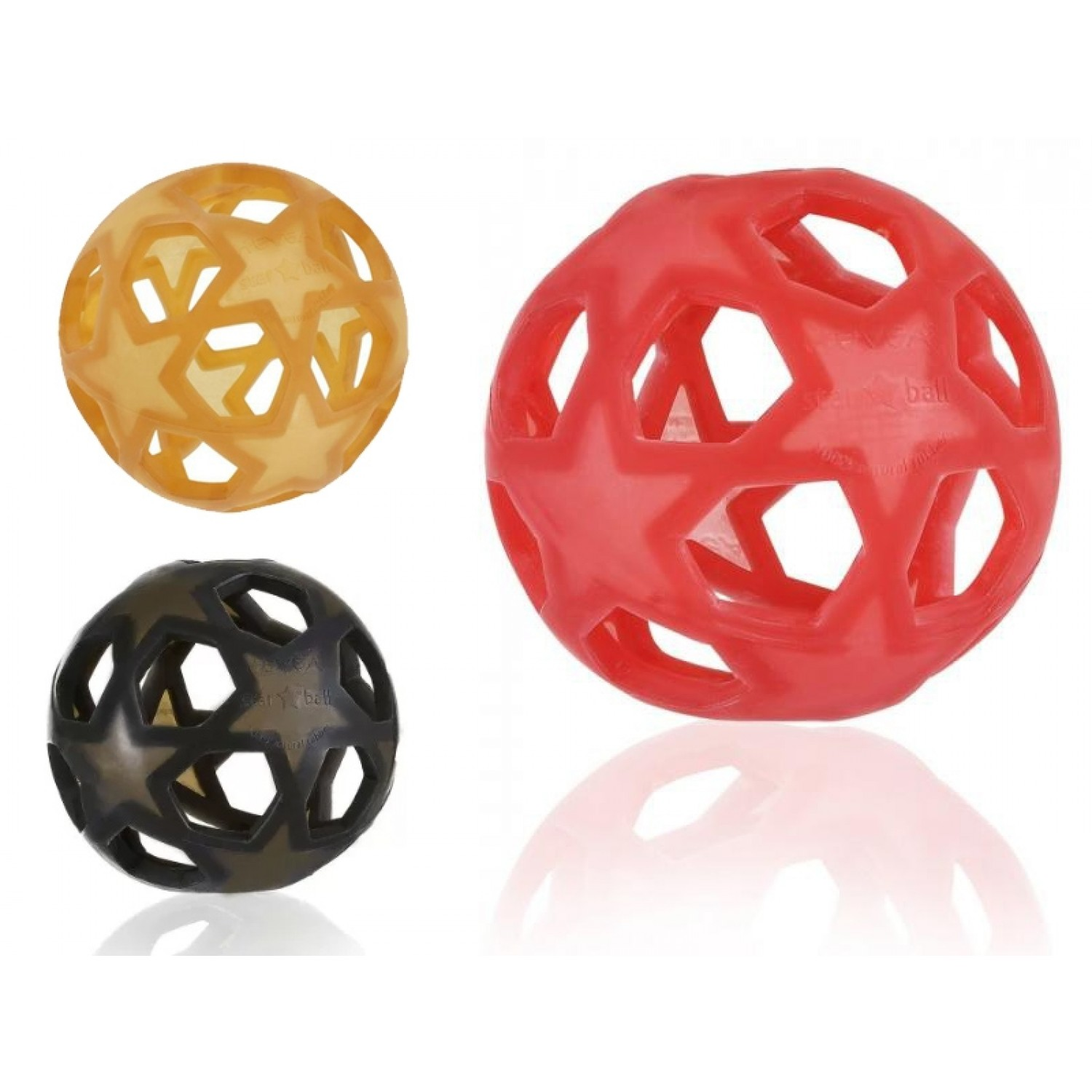 Hevea Star Ball made of Natural Rubber different colours
