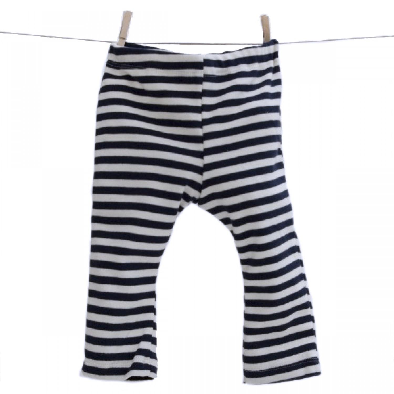 Baby Leggins Organic Cotton navy-striped