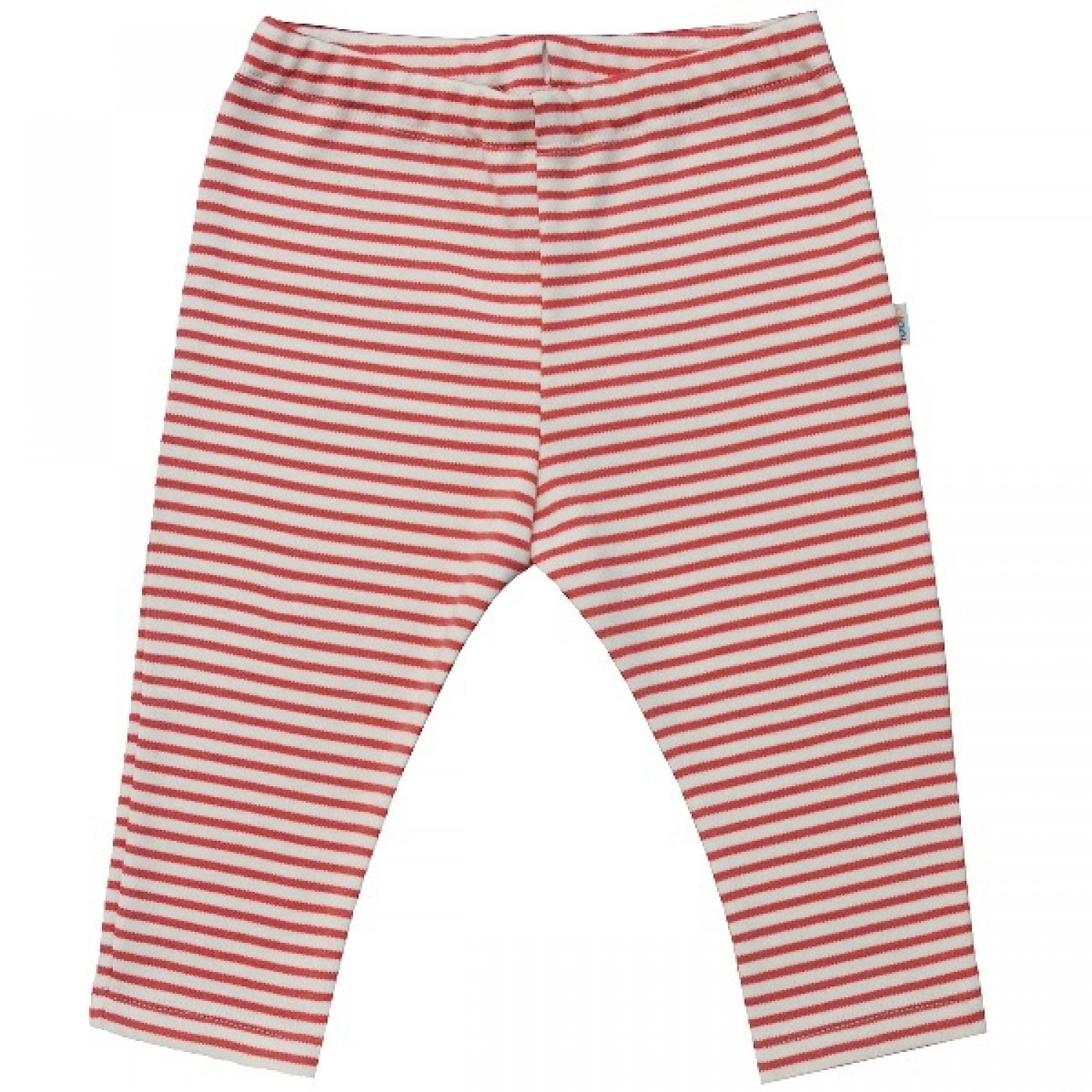 Baby Leggins Organic Cotton red-striped
