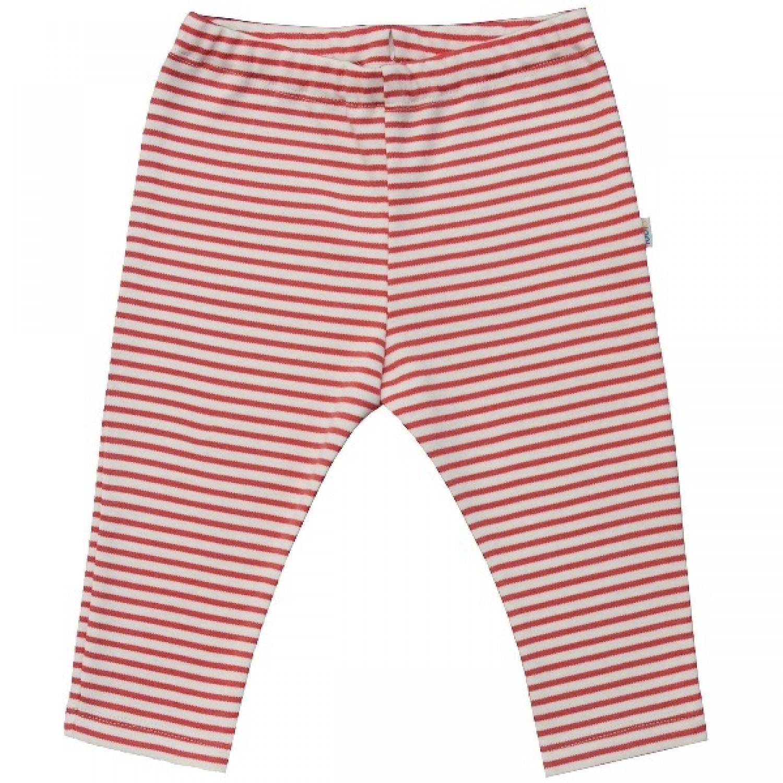 Baby Leggins Organic Cotton red-striped