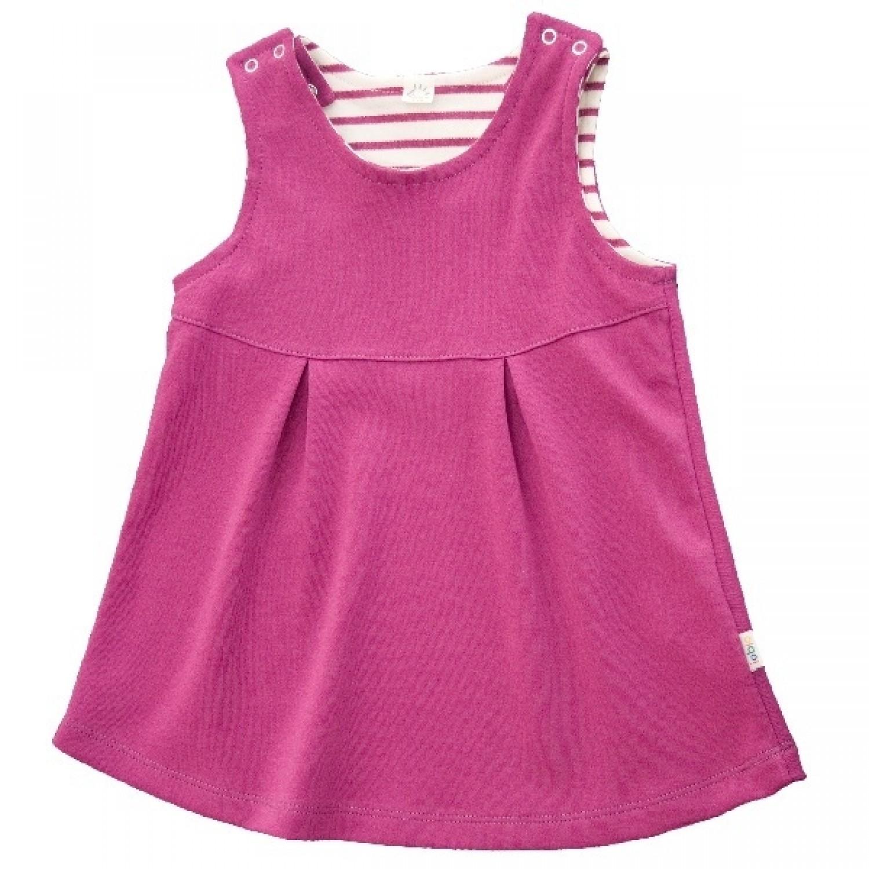 Pink girls dress of GOTS organic cotton | Popolino iobio