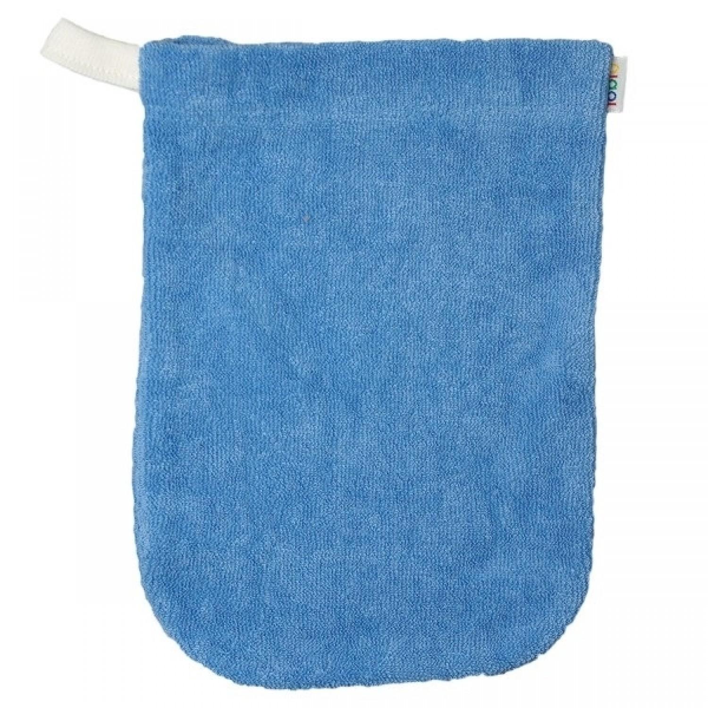 Popolini Babys Wash Mitt organic cotton blue