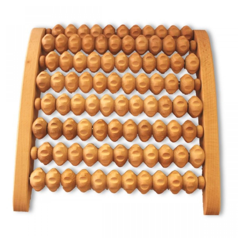 Wooden Foot Massage Roller eco beechwood | Biodora