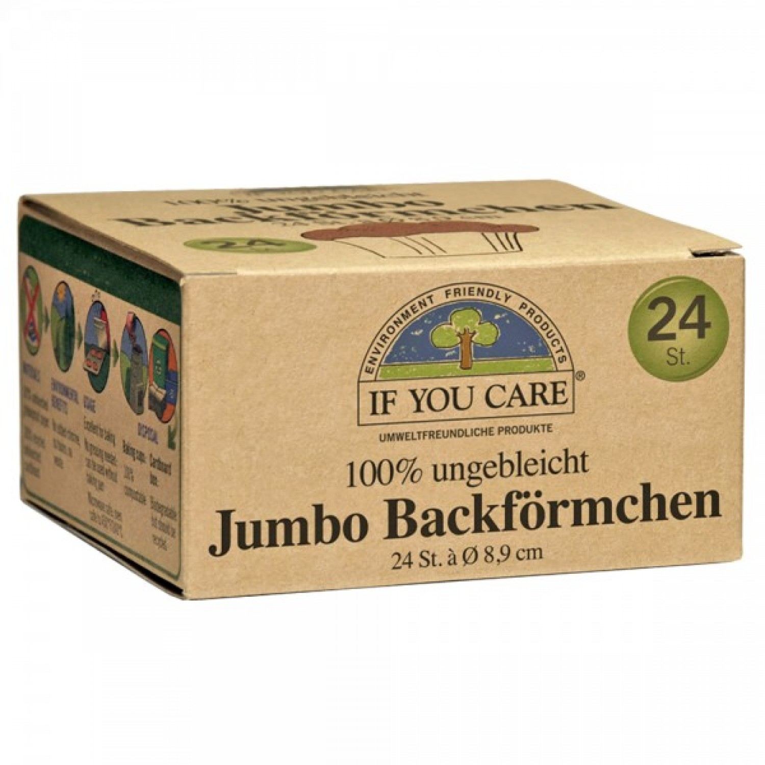 If You Care Jumbo Baking Cups unbleached 24 p. | IYC