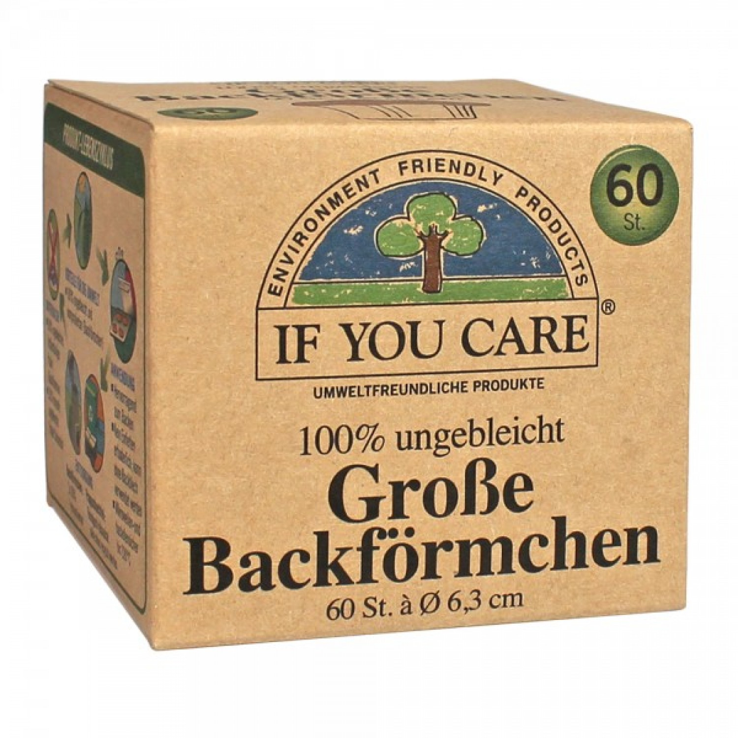 If You Care Large Baking Cups unbleached 60 p. | IYC