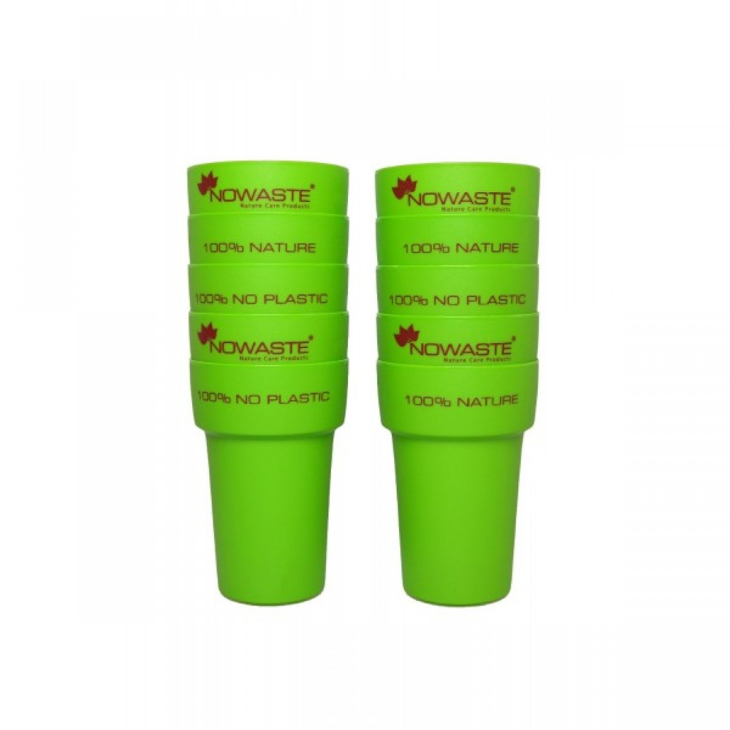 Green reusable Cup 300 ml pack of 10 | Nowaste