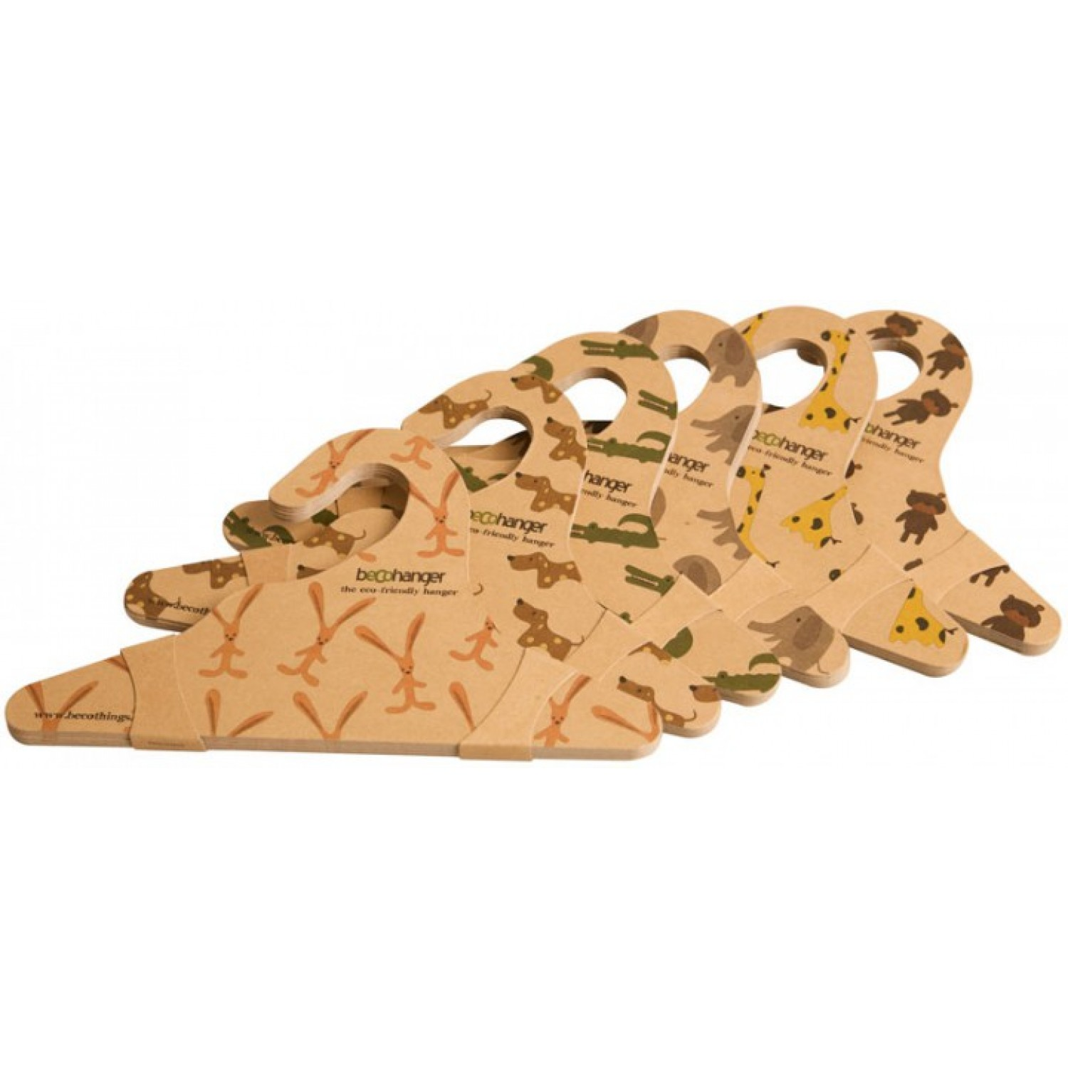 BecoHangers of recycled cardboard