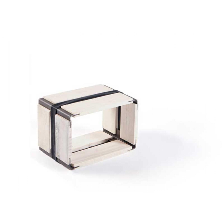 Upcycled wooden shelf MOVEO. CASA 20.30 white   reditum