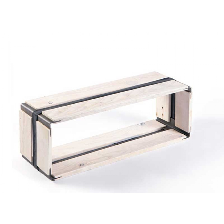 Upcycled wooden shelf MOVEO. CASA 20.60 white | reditum