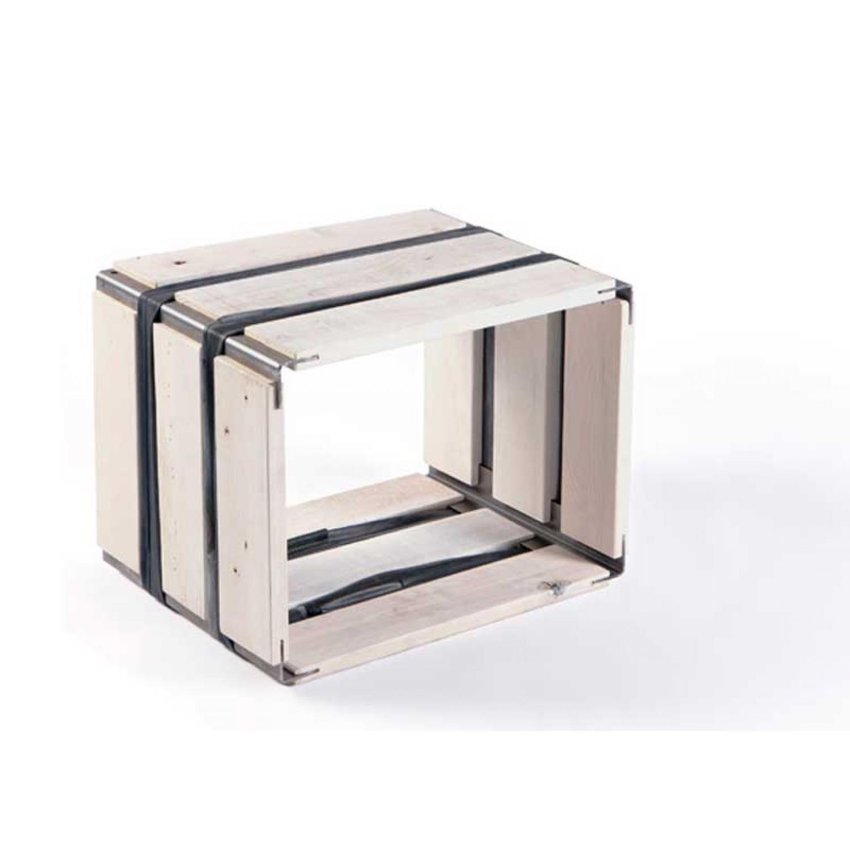 Upcycled wooden shelf MOVEO. CASA 30.40 white   reditum