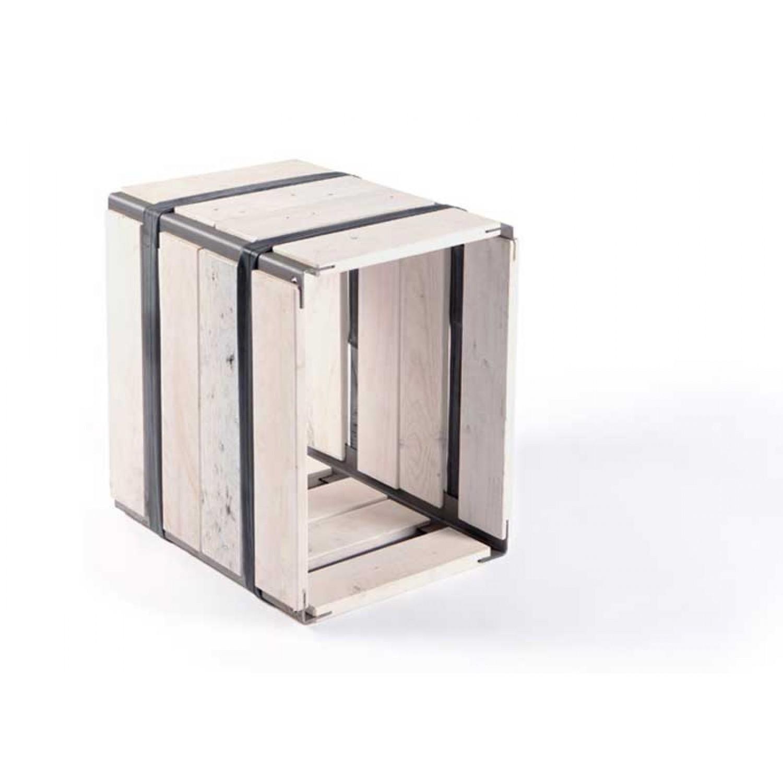 Upcycled wooden shelf MOVEO. CASA 40.30 white | reditum