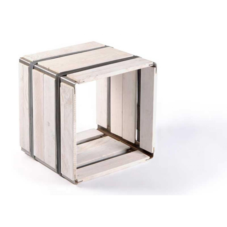 Upcycled wooden shelf MOVEO. CASA 40.40 white   reditum