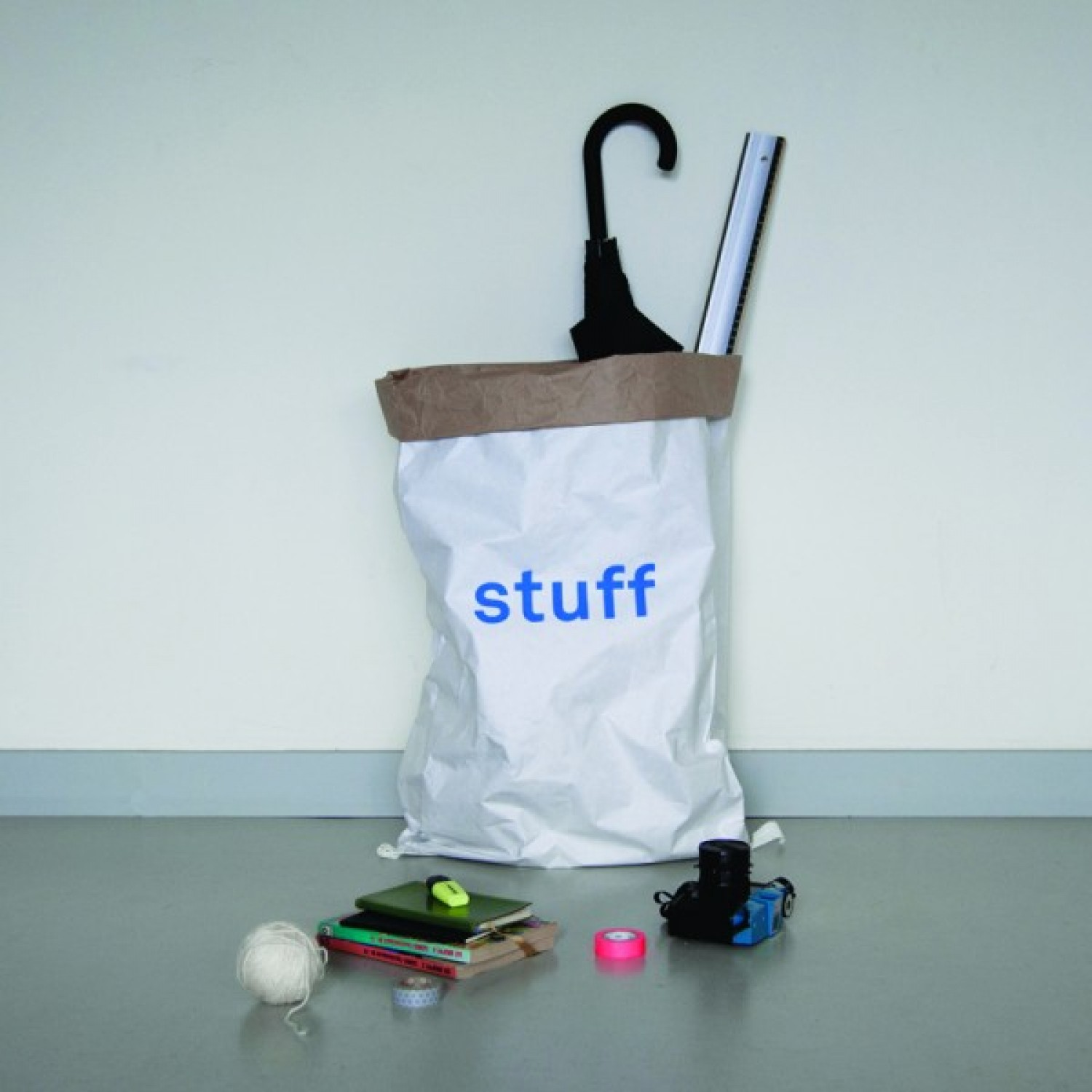 Storage Bag for Stuff from recycled paper | kolor